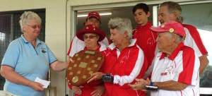 Sue Betram presents Caloundra Shield to Southport