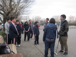 High School players from Tochigii Prefecture who arrived by school bus
