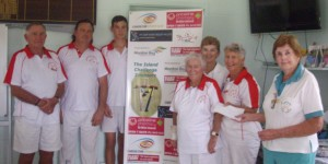 Southport Red came second. Jeanette Knight from Bribie Is made the presentations.