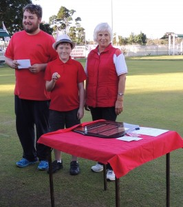 David and Chris with Kerry Lamerton- our catering convenor, from Southport - who presented the prize.