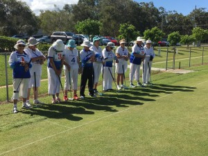 Toowoomba team read to play the Rocky Point team