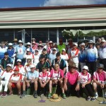 All of the participants at the Ipswich Gateball Challenge