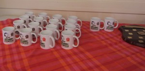 The novel prizes included an individual Snoopy Mug for each of the members of the teams that came 1st, 2nd and 3rd. Great idea!