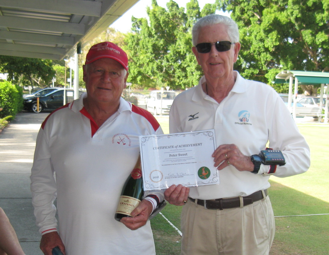 Peter Sweet from Southport Claims a Gateball Record