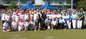 Participants at the State Gateball Teams Championship