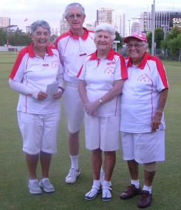"Second place went to the ""Can Do"" team- Julia Vickers, Keith McLeod, Trudy Cummins and Beryl Phillips"