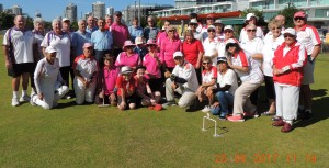 A group photo of the competitors in the Teams event.