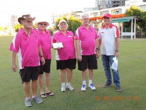 Redcliffe wins the first prize presented by John Turner, President of Southport CC
