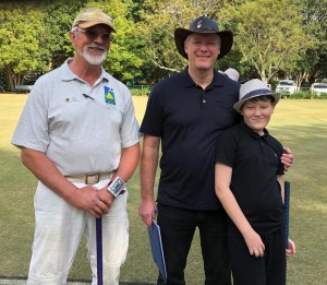 Geoff and Chris Cook with Peter Freer from Canberra