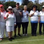 L-R Kathie Grant, Dianne and Peter Sweet from Southport, Chris Kele from McIlwraith, Fran Buckle, Christine Roose and Nancy Scamp from Eildon and Margaret Barnard